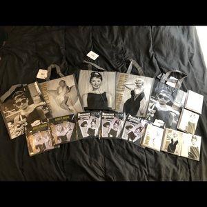 Handbags - Marilyn Monroe & Audrey Hepburn bags, cards & tags